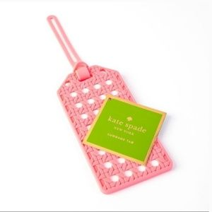 Kate spade coral luggage tags set of 2 nwt